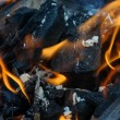 Stock Photo: Burning coals