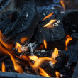 Burning coals — Stock Photo
