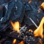 Burning coals — Stock Photo