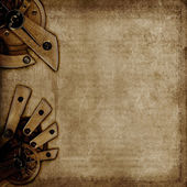 Vintage background with old mechanisms — Stock Photo