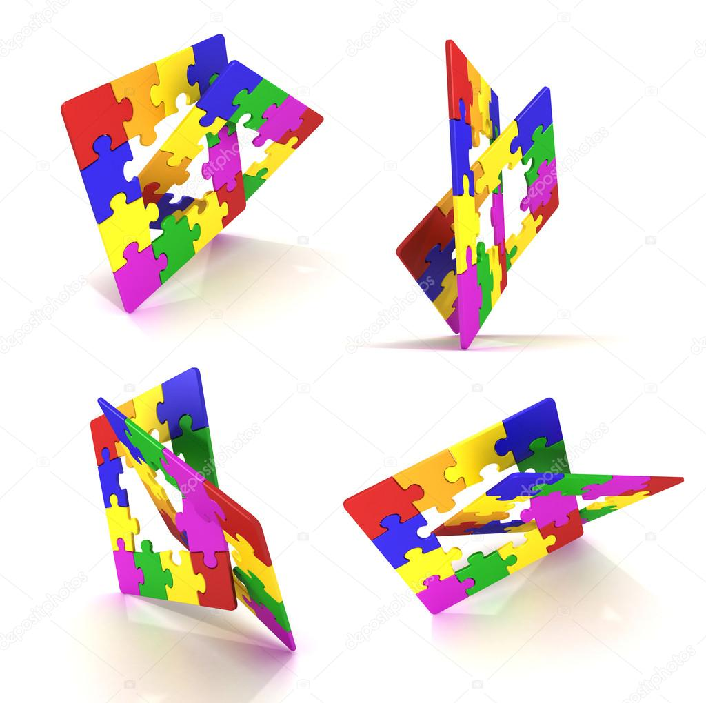 Puzzle 3d render — Stock Photo #15618085