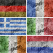 European Flags (Grunge) — Stock Photo