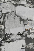 Torn paper on Wall — Stock Photo