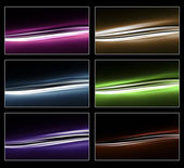 Lightwaves in different Colors — Stock Photo