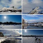 Winter in Scandinavia — Stock Photo