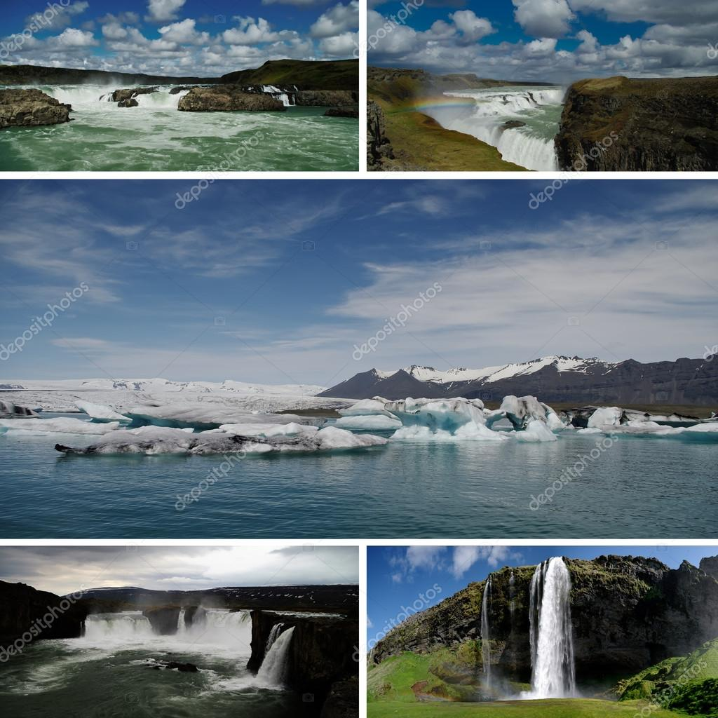 Postcard Style Collage with different pictures of Iceland — Stock Photo #12104756