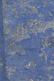 Modrá barva na staré grungy zdi — Stock fotografie
