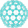 Stock Photo: Giant fullerene molecule C240