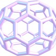 Stock Photo: Model of molecule fullerene C70