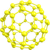Fullerene molecule — Stock Photo