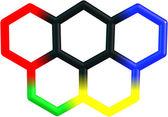 Olympicene molecular structure on white — Stock Photo