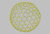 Fullerene molecule isolated on white — Foto Stock