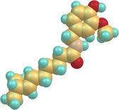 Capsaicin molecular structure — Stock Photo