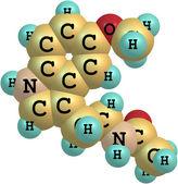Molecule of Melatonin isolated on white — Stock Photo