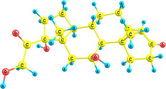 Hydrocortisone molecular structure — Stock Photo