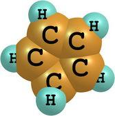 Beyaz zemin üzerine cyclopentadiene moleküler yapısı — Stok fotoğraf