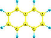 Naphtalene molecular structure on white background — Stock Photo