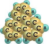 Triphenylene molecule structural model on white — Stock Photo