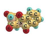 Thalidomide molecule on white — Stock Photo