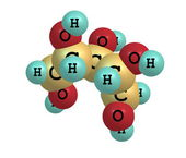 Xylitol molecular structure on white background — Stock Photo