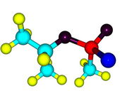 Molecular structure of sarin on white — Stock Photo