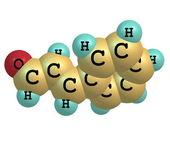 Cinnamaldehyde molecule isolated on white — Stock Photo