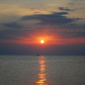 Sunset on the Adriatic — Stock Photo