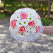 Stock Photo: Bridal bouquet of daisies and roses
