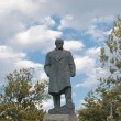 The monument of the famous ukrainian writer Taras Shevchenko in Odessa - Stock Photo