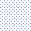 White seamless christmas snowflakes pattern — 图库照片