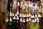 Decorative clay Christmas bells — Foto de Stock