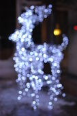 Bokeh light deer — Stock Photo