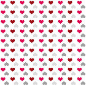 Seamless pattern of bright colorful hearts (red-grey) — Stock Photo
