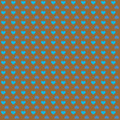 Seamless pattern of bright blue hearts on brown background — Foto Stock
