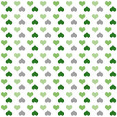 Seamless pattern of bright colorful hearts (green-grey) — Stock Photo