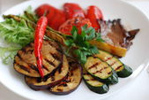 Grilled vegetables on the plate — Stock Photo