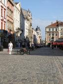 Przy ulicy miejskie we lwowie, ukraina — Zdjęcie stockowe