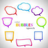 Color Speach Bubbles — Stock Vector