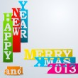 Royalty-Free Stock Vector Image: Colorful Happy New Year & Merry Xmas paper strips