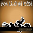 Halloween card with stickers vector illustration - Stock Vector