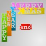 Happy New Year & Merry Xmas paper strips eps10 vector illustrati — Stock Vector