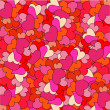 Vector de stock : Romantic seamless pattern with hearts
