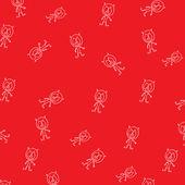 面白いモンスターとのシームレスなパターン — ストックベクタ