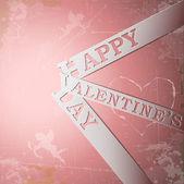 Happy Valentine's Day paper strips — Stock Vector