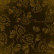 Seamless floral background pattern with gold flowers - Stock Vector
