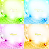 Shiny abstract background set eps10 vector illustration — Stock Vector