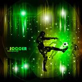 カラフルな抽象的なサッカー ポスター eps10 ベクトル イラスト — ストックベクタ