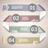Infographic ribbons for data presentation eps10 vector illustrat — Stock Vector