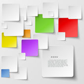 Color square tiles abstract vector background — Stock Vector