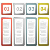 Paper choice template — Stock Vector